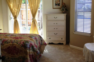 Clean and comfortable bedroom